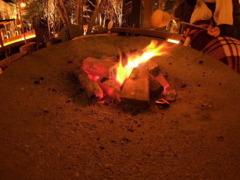 BEB5 中軽井沢 焚き火 焼きマシュマロ
